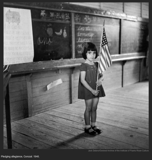 Pledging allegiance, Corozal. 1946, Jack Delano