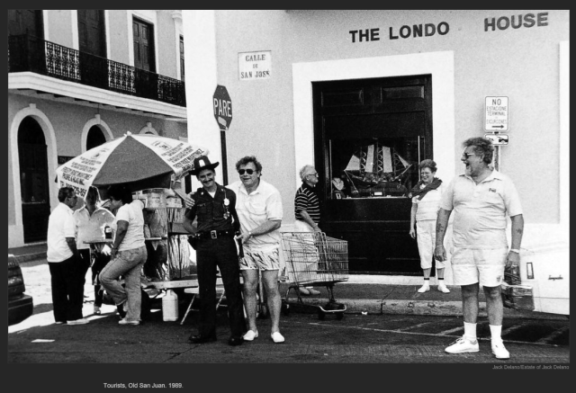 Tourists, Old San Juan. 1989. Jack Delano