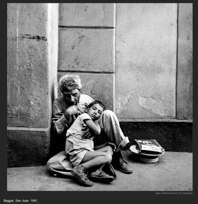 Beggar, San Juan. 1941. Jack Delano