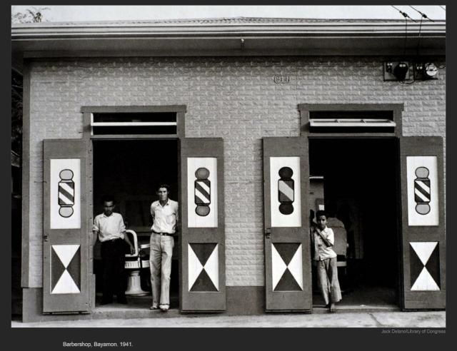 Barbershop, Bayamon. 1941. Jack Delano