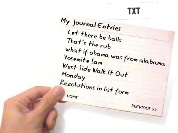 TXT card