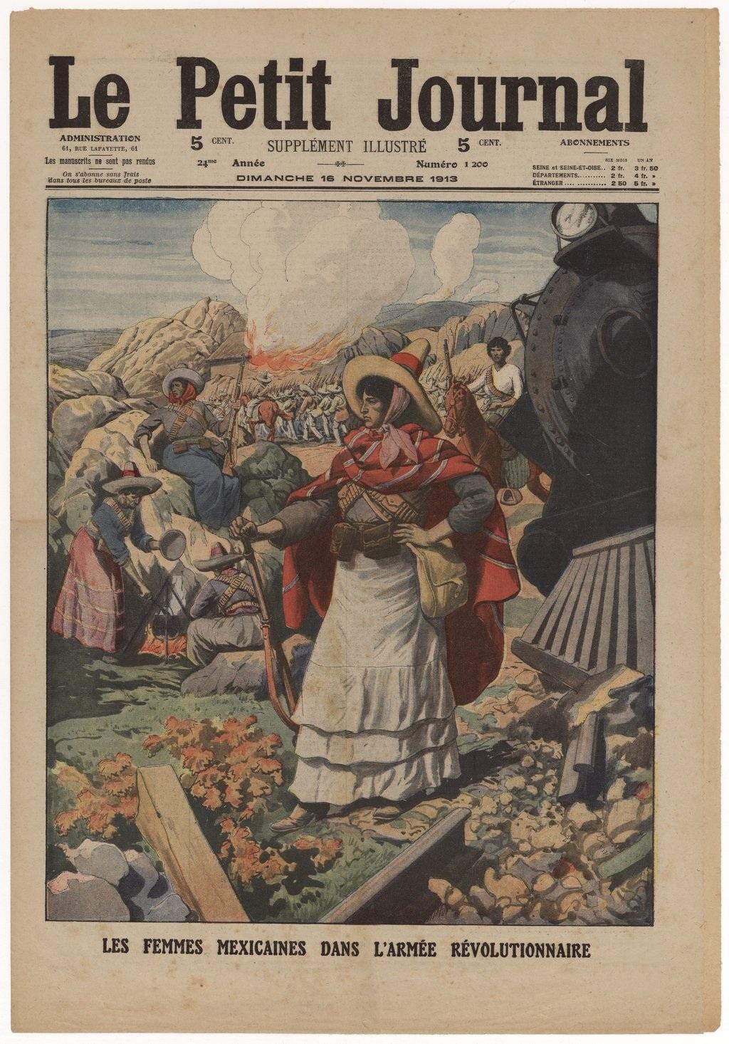 Las mujeres s con may scula mexicanas en la revoluci n peri dico franc s - Petit journal de lattes ...