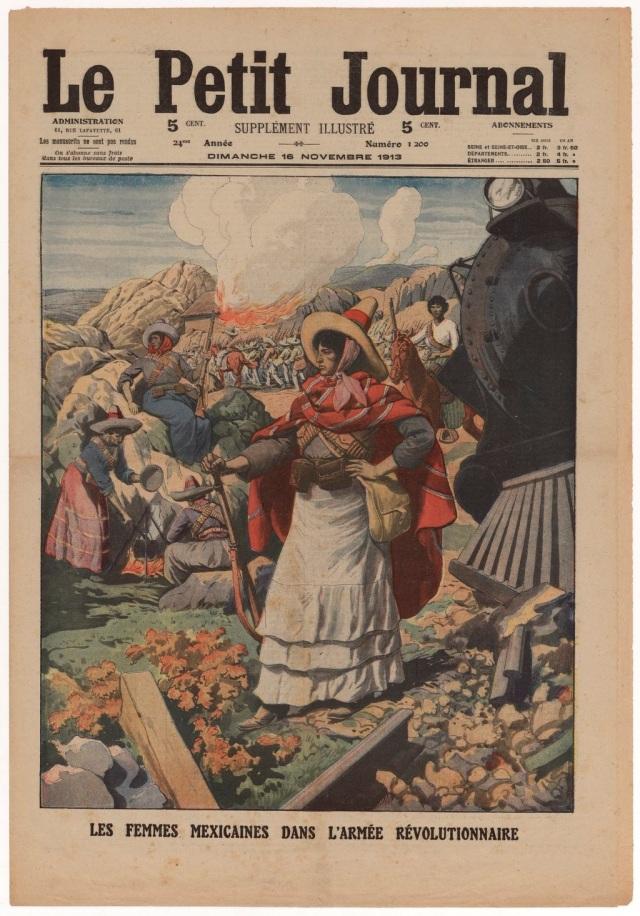 """Las Mujeres (sí, con mayúscula) mexicanas en la revolución. Periódico francés """"Le Petit Journal"""" , domingo 16 de noviembre de 1913."""